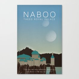 Minimal Poster Series - Naboo Theed - Wars Star Canvas Print