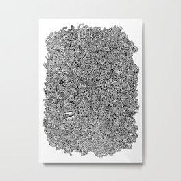 Intergalactic Junkyard Metal Print