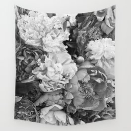 pink pink PEONIES Wall Tapestry