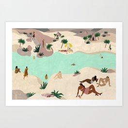 River in the Desert Art Print