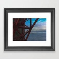 Golden Gate Geometry 2 Framed Art Print