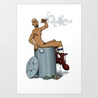 Trash Art Print