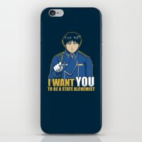 fullmetal alchemist iPhone & iPod Skins featuring I Want You to be a State Alchemist by adho1982