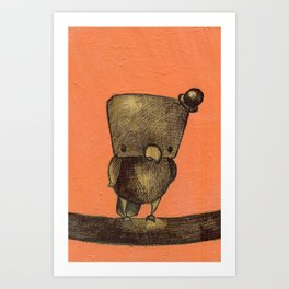 Classy on the Wire Art Print