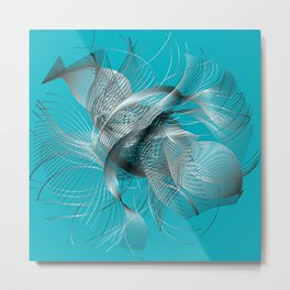 Abstract Fish Metal Print