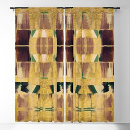 Avalon Abstract Brown Geometric Shapes Blackout Curtain