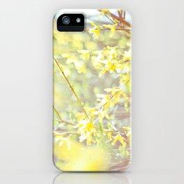 Yellow Forsythia iPhone Case