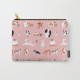 Dogs, Dogs, Dogs Pink Carry-All Pouch