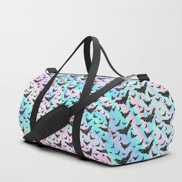 Holographic Glitter Bats Pattern Duffle Bag
