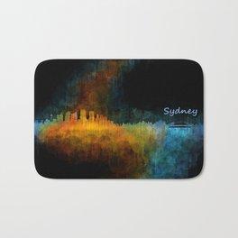 Sydney City Skyline Hq v4 Bath Mat