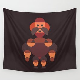 Big Muscle Robot Wall Tapestry