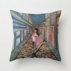A Kiss in Paris Throw Pillow