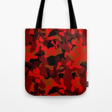 Camouflage (Red) Tote Bag