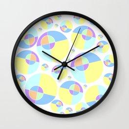 Bubble yellow & blue 08 Wall Clock