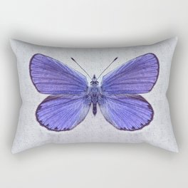 Violet Butterfly on Floral Background. Rectangular Pillow