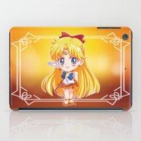 sailor venus iPad Cases featuring Chibi Sailor Venus by Neo Crystal Tokyo