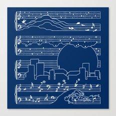 The Moonlight Sonata Blue Canvas Print