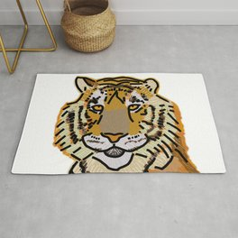 Tiger Portrait Rug