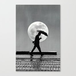 The man and the moon Canvas Print