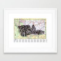 montana Framed Art Prints featuring Montana by Ursula Rodgers