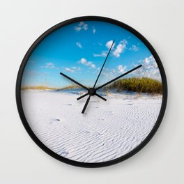 Pristine Sand Dune Wall Clock