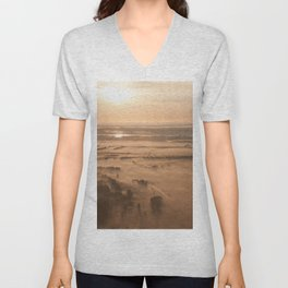 Misty SunRise Unisex V-Neck