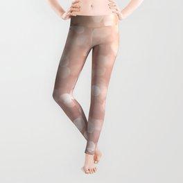 Rosegold Glitter Bokeh Glam Pattern Leggings