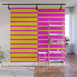 Canary Zebra Plays Piano Wall Mural