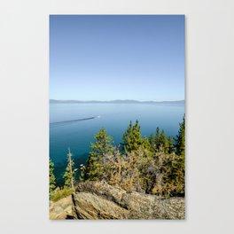 Boating Across Lake Tahoe Canvas Print