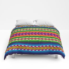 Colorful Woven South American Pattern Comforters