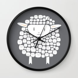 Baa baa White Sheep Wall Clock