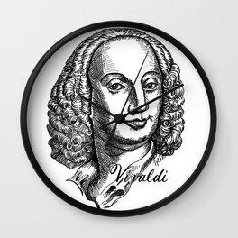 Antonio Vivaldi portrait Wall Clock