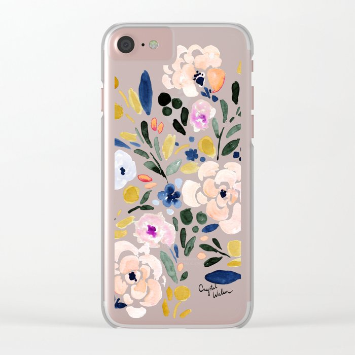 Sierra Floral Clear iPhone Case