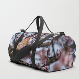 Spring Blossoms - Male House Finch Duffle Bag