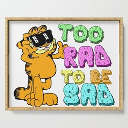 Too Rad to be Sad Garfield the Cat Serving Tray