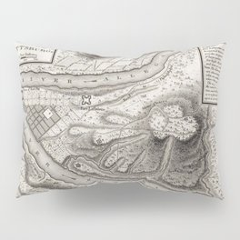 Vintage Map of Pittsburgh PA (1796) Pillow Sham