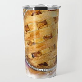 Digital Painting of  Apple Pie , top view Travel Mug