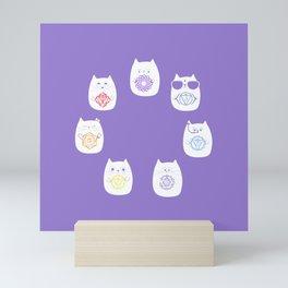 Chakra cats Mini Art Print