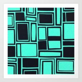 Windows & Frames - Teal Art Print