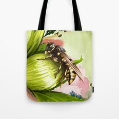 Wasp on flower 6 Tote Bag