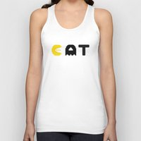 eat Tank Tops featuring EAT by Adil Siddiqui