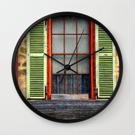 Window Shutters Wall Clock