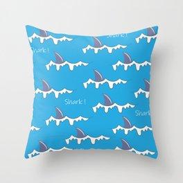 Shark fin pattern Throw Pillow