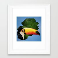 toucan Framed Art Prints featuring toucan by gazonula