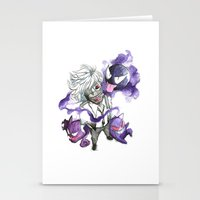 tokyo ghoul Stationery Cards featuring Tokyo Ghoul Gym Leader by Blackapinaa