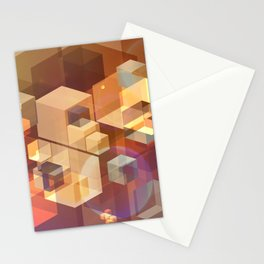 Squares and light leaks pattern Stationery Cards