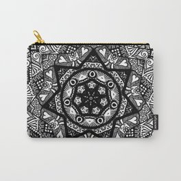 Monochromatic Bloom  Carry-All Pouch