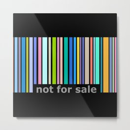 Not For Sale Barcode - Colorful Metal Print