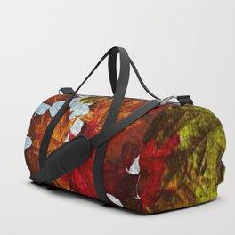Fall Leaves On canvas Duffle Bag
