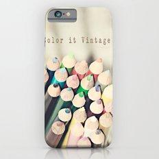 Color it Vintage Slim Case iPhone 6s